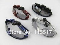 Wholesale Different HIGH STEREO Sports Sunglasses GB MP3 WMA sound Player in ear Headphone Headset mp3 glasses Sports MP3 retail box