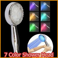 Wholesale HOT RGB Color Changing LED Shower Head Sprinkler Automatic Control Temperature change and change color