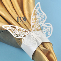 Cheap White Butterfly Paper Best Rings for Wedding