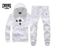 sweatsuits - 2015 Mens Slim Fit Crew Neck sweatsiuts Crooks and Castles HipHop Mens sweatsuits coat pants Size S XL