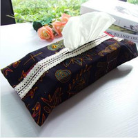 asian style homes - home textiles tissue box Southeast Asian Thai style cloth towel sets Cotton and linen fabric lace tissue box FF953