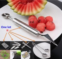 Wholesale Kitchen Tools Set Spoons Fruit Ball Cutter Fruit Knife Slice Plane Apple Cutter Fish Scale Peeler Ginger Grinder Plate Clip