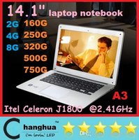 Wholesale inch ultrabook laptop windows7 or Intel Celeron J1800 GHzdual G GB core ultraslim laptop notebook computer