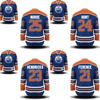 army nurse - 2016 MEN Andrew Ference Matt Hendricks Bard Hunt Darnall Nurse jersey Edmonton oilers Stitched Hockey Jerseys S XL