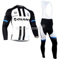 giant mountain bike - Ropa Ciclismo Mountain Bike MTB Winter Thermal Fleece Long Sleeve Jersey Bib Pants Tour de France GIANT Jersey Cycling