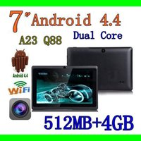 Wholesale 7 quot Q8 Q88 Dual Core Dual camera inch tablet PC android Allwinner A23 MB GB colorfull WIFI tablet hot sell DHL