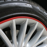 Wholesale SALE Automotive wheel protection rings protective strip tire rims scuff trim collision color strips