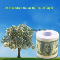 Wholesale High quality One Hundred Dollar Bill Toilet Paper Novelty Fun TP Money Roll Gag Gift