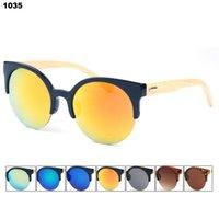 bamboo pop - New sell hot cat s eye sunglasses Bamboo foot sunglasses America and Europe pop bamboo sunglasses WPB1035