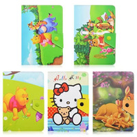 """Yes Protective Shell/Skin 7'' 3D Cute Hello Kitty Bear Flip Stand PU Leather Cover Case For Universal 7"""" 10inch Tablet PC"""