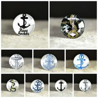 anchor embellishment - 20mm Size Anchor Glass Cabochons Nautical DIY Magnifying Round Dome Embellishments