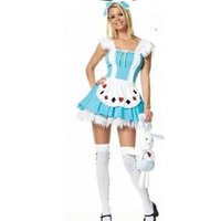 alice in the wonderland dress - 2015 cheap Alice In Wonderland Dress Lolita sexy Dress Maid Cosplay Fantasia Carnival Halloween Costumes For Women Plus Size M L XL