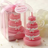 cake candle - 2015 Popular Bridal Accessories Wedding Candles Creative Favor Smokeless Candles Wedding Candle Rose Cake LH