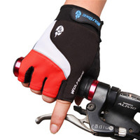 Wholesale Hot Short cycling Gloves Non slip Road MTB Motorcycle Cycling Bike Bicycle Racing Riding Breathable Half Finger Gloves Gel Pad glove