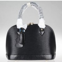 bag package patent - Black Epi Vernis Alma Handbags Tote Bags purse shoulder Shell package Fashion bags totes best price