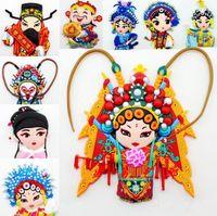 beijing magnet - 9 styles Beijing Opera characters Creative cartoon stickers PVC Cute design Fridge magnets home decor pclot kids Magnetic decorative