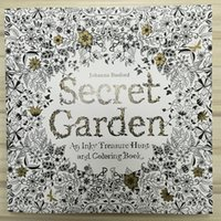 Wholesale 25x25cm pages secret garden inky coloring book for kids adult Relieve Stress Kill Time Graffiti Painting Drawing Book