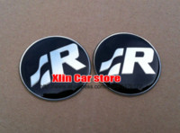 Wholesale 2pcs mm VW car SR Steering Wheel Badge Emblem steer wheel Sticker for Volkswagen Golf MK4 R32 Polo GTi