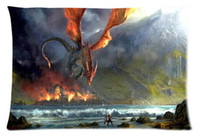 best movie covers - Hot movie The Hobbit Dragon Photo Custom Best Decorative Cool Pillow Case Standard Size Cushion Cover with zipper Two sides