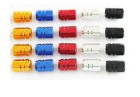 Wholesale 4Pcs Universal Aluminum Car Tyre Air Valve Caps Bicycle Tire Valve Cap Car Wheel Styling Round Black Blue Silver Gold Red