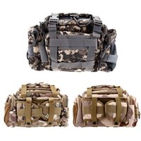 acu waist pack - Outdoor Multifunction Fishing Lure Bag Waist Pack Handbag Shoulder Bag Fishing Tackle Earth Sand ACU Tan Camouflage ACU Black