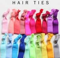 Wholesale Velvet Rope Knotted Hair Tie Candy Color Ponytail Holders Yoga Ribbon Elastic Bands European and American Glitter Hair Accessories J305
