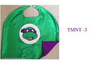 Wholesale 100pcs double sided cape teenage mutant ninja turtles kids cape for Children Halloween Party Costumes TMNT cape red purple blue orange