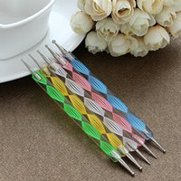 Wholesale Lowest Price sets Nail Art Tool Steel Dotting Marbleizing Pen Nail Art Paint Pen Decoration Nail Art Manicure Tool