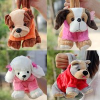 baby toy poodle - Gift for baby pc cm cartoon shar pei schnauzer poodle papillon dog pretty plush little handbag pencil coin bag stuffed toy