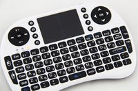 Wholesale 2 G Rii Mini i8 Wireless Keyboard Touchpad for Tablet PC iPad Mini Google Andriod Smart TV Box Xbox360 PS3 HTPC IPTV