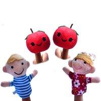 apple tree nursery - set Nursery rhyme finger puppets Apple Tree Apple Round Apple Red finger puppets Educational toys w408