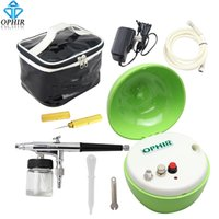 apple shaped cakes - OPHIR mm Airbrush Kit with Mini Air Compressor Green Apple shape for Makeup Tattoo Nail Art Painting Cake _AC051G