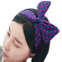 Wholesale Women Girls Kids Rabbit Headbands Bunny Ear Hair Band Bow Head Wrap Floral Headband