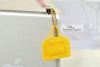 Wholesale phone accessories luxury LV bags hand bags anti jack dust plug ear cap for ipone amp Ipad amp