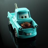 toy tow trucks - Disny Children mini miniature cars toys mater tow truck blue metal die cast race truck car models alloy diecast car toys for boy