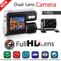 auto cars india - Dual Lens Camcorder i1000 Auto Car DVR Dual Camera HD P Dash Cam Black Box Driving Recorder With Parking Rear lens Cameras