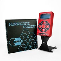 Wholesale 2014 Hot Selling Red HP2 Hurricane Tattoo Power Digital Dual LCD Display Tattoo Power Supply