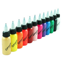 airbrush nail polish - OPHIR Airbrush Nail Ink for Nail Stencil Art Polishing ML Bottle Temporary Tattoo Pigment _TA100