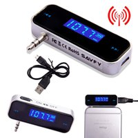 Wholesale Wireless mm In car LCD Display Fm Transmitter for iPhone6 S MP3 P4 Music