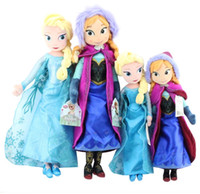 Wholesale Frozen Elsa Anna Plush toys Girls Princess Dolls Kids Christmas Gift Hot Sale