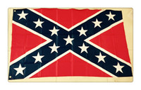 Wholesale 10 The Truth About the Confederate Battle Flags Two Sides Printed Flag Confederate Rebel Civil War Flag National Polyester Flags epacket