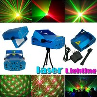 Wholesale R G Super Mini Projector DJ Disco Light Stage Xmas Party Laser Lighting Show Free DHL
