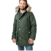 Wholesale 2015 High quality Outerwear Coats Men s Down Parkas Brand down jacket with Real fur