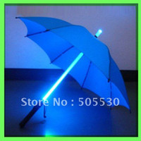 Wholesale fast shipping HOT SALE Led flashlight umbrella LED outdoor umbrella light umbrella novelty kids gift Blue Red black order lt no track