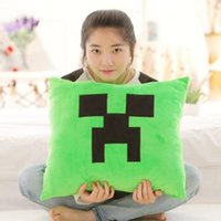 nonwoven fabric - Hot Minecraft Creeper Enderman TNT Cushion Two Side Chair Sofa Napping Fabric Squar x40cm quot x15 quot