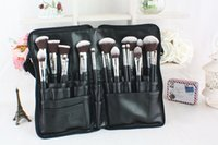 Wholesale New Design Portable High Quality PU Material Brushes Pouch Makeup Bag Waist Brush Bag With Zipper