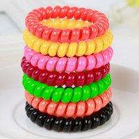 Wholesale 1Pcs Elastic Telephone Wire Donut Bun Maker Former Twist Tool Styling Drop Shipping Color Send Randomly
