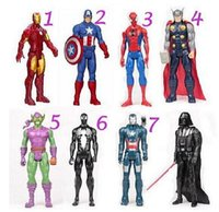 achat en gros de accessoires avengers-20pcs Avengers 30cm Marvel Spiderman Vert Gobelin Figurine Figurine Collectible Jouet Star Wars Darth Vader Wolverine Action Figure
