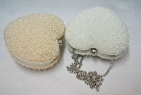 Wholesale 18cm cm New Heart Wedding Handbags Clutch Beading Party Bags Bridal Accessories Evening Bags Imitation Pearls Party Handbag Dinner Clutch