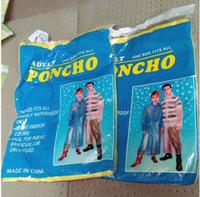 Wholesale Portable Disposable PE Raincoats Poncho Rainwear Travel Rain Coat Rain Wear Gifts Mixed Colors